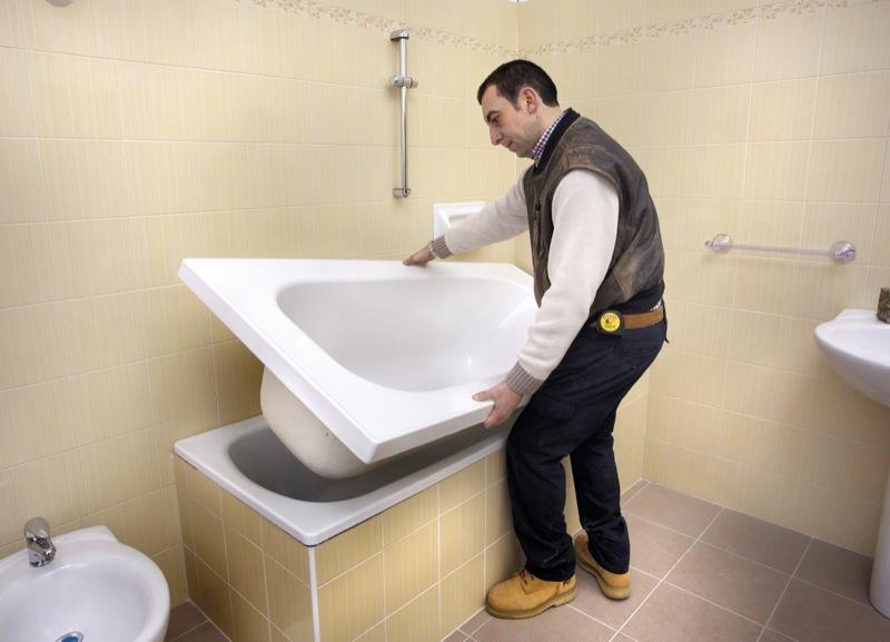 Sovrapposizione vasca da bagno sistema testato da oltre - Ricoprire vasca da bagno prezzi ...