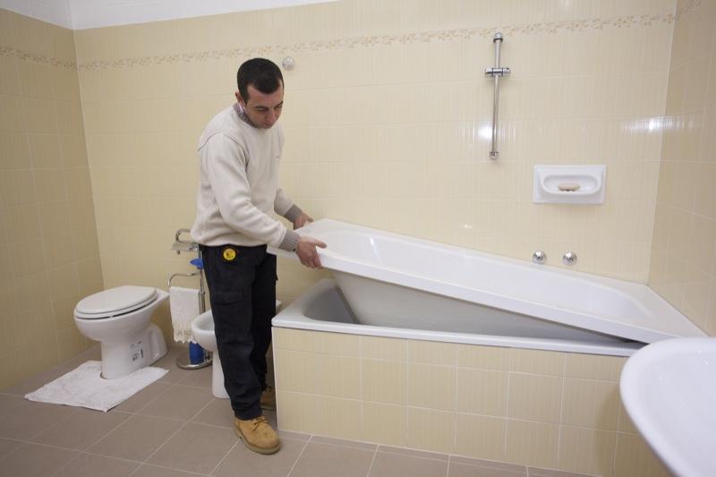 Sovrapposizione vasca da bagno sistema testato da oltre anni