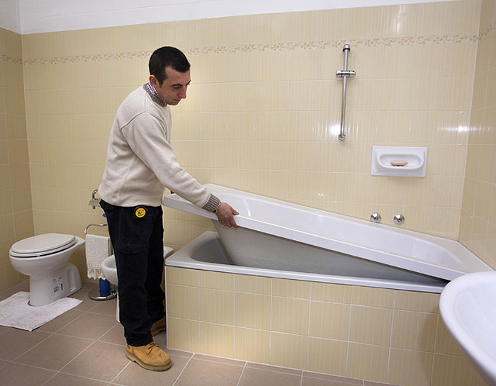 vasca da bagno senza rompere piastrelle